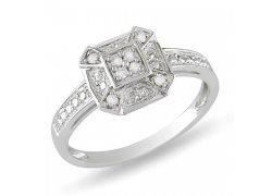 Diamantový módní prsten ze stříbra, Klenota.cz: cena 3350 Kč
