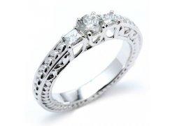 Diamantový snubní prsten z bílého zlata, Klenota.cz: 21 890 Kč