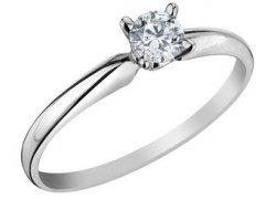 Diamantový zásnubní prsten z bílého zlata, Klenota.cz: 15 900 Kč