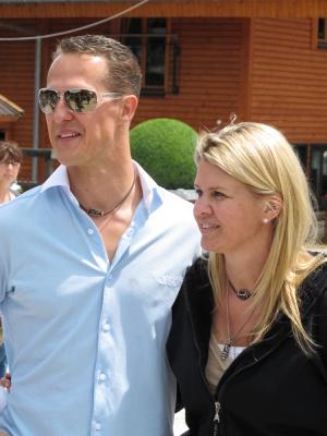 Schumacher s manželkou, zdroj fotografie: Shutterstock
