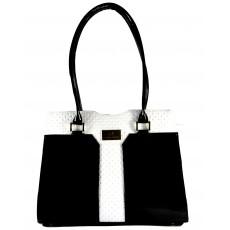 Černo bílá luxusní kabelka na rameno Leticia, cena: 1 299 Kč