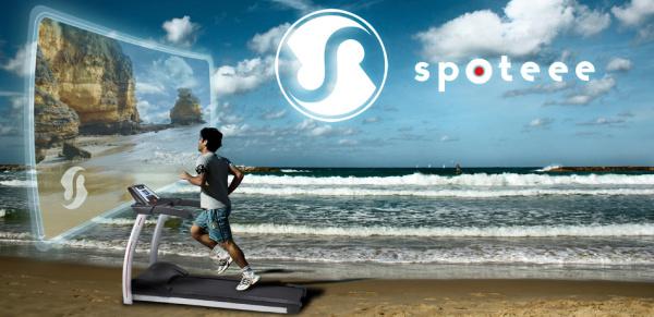 Spoteee vás při běhání zavede, kam si jen budete přát díky LDC televizi, která je umístěna před běžícím pásem.
